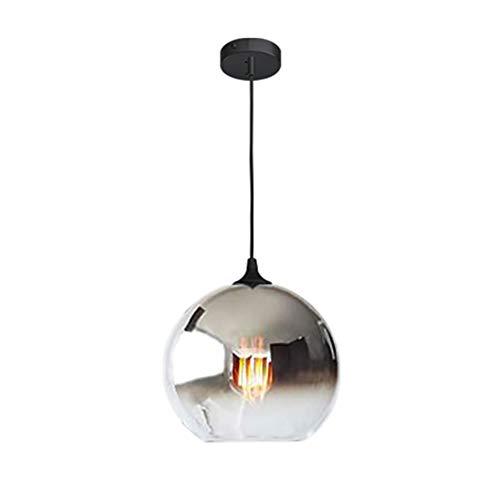 Gold-finish Klar Glas (CUICANH One-light Indoor Mini Während des lichts,Industrielle Moderner Durchsichtige Glas klar Kreativ Simple Ball Bar Flur Küche Restaurant Gold-finish Hängeleuchte-Silber A 20x20cm(8x8inch))