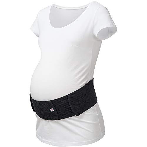 Herzmutter Bauchgurt-Schwangerschafts-Stützgürtel-Bauchband - größenverstellbarer Schwangerschaftsgurt - Bauchgurt Schwangerschaft - Gymnastik-Yoga-Sport - 3200 (S/M, Schwarz)