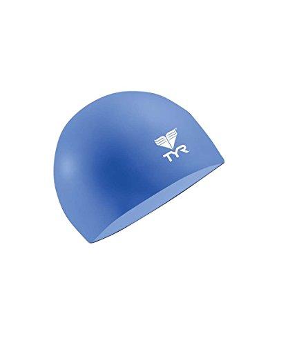 TYR Schwimmhaube Latex (Blau)