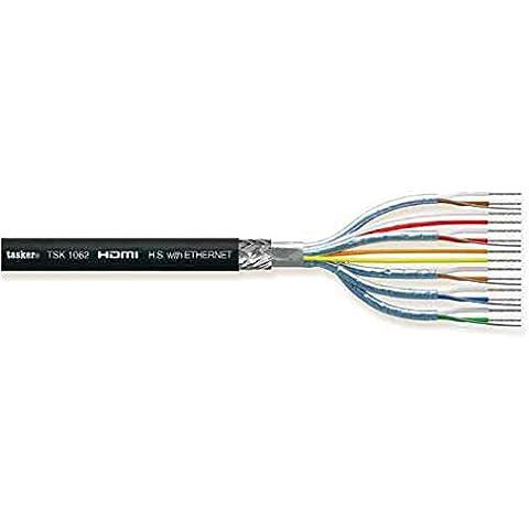 Tasker TSK 1062 Cavo HDMI 24 AWG Hi Speed + LAN 25 (80 % Di Rame Treccia)