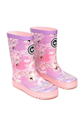 hype Girls Junior Pink Unicorn Wellies