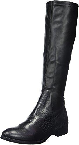 Jb MartinAustrale - Stivali classici al ginocchio Donna , Nero (Noir (T Velv St/Vrio Em Lit Croc Noir)), 41