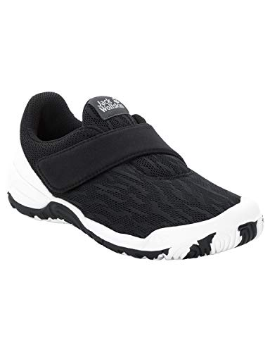 Jack Wolfskin Unisex-Kinder Jungle Gym Chill VC Low Sneaker, Schwarz (Zebra 7448), 27 EU -