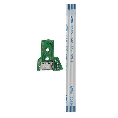 Cutebility Ersetzen Sie die USB-Ladeanschlussplatine für den JDS-055 PS4-Controller durch EIN 12-poliges Flex-Kabel Motherboard Mainboard New Flex Cable Ribbon