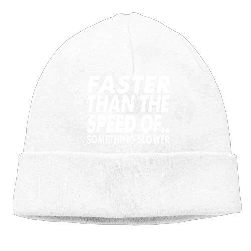 Preisvergleich Produktbild Momen's Faster Than The Speed of Fashion Hip-Hop Black Beanies Knit Hat