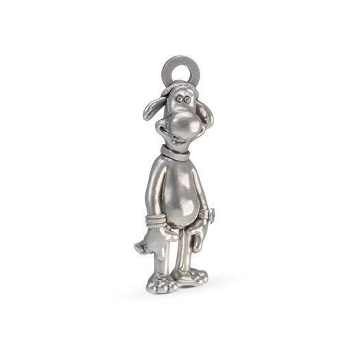 Shaun das Schaf - Bitzer The Sheepdog Charm Sterling-Silber 925 -