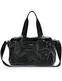 TOOGOO(R) Men'S Travel Bags PU Leather Luxury Style Men'S Messenger Bag Large Capacity Men Bags-black