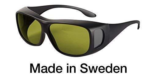 Blaulichtfilter - Überbrille - Fit-Over-Brille, Blue Blocker mit Kantenfilter 450 und 60% Grautönung, UV-Schutz, Blendschutz, kontraststeigernde Unisex-Lichtschutzbrille IV PROSHIELD -