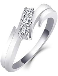 1b6f328c457 Starchenie Bague de Fiançailles Croisée avec Diamants en or Blanc 9 14 18  carats