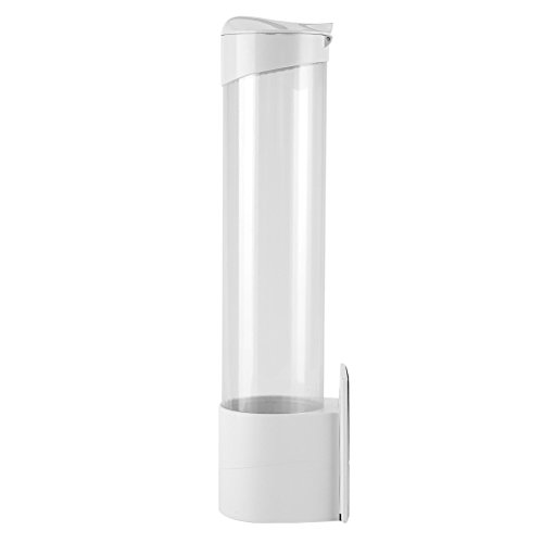 Acogedor Antipolvo Dispensador de vasos de papel, recipiente de plástico, 7.5 cm, 50 tazas, envase conveniente