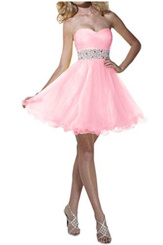 Victory bridal 2015 nouveau été brautjungfernkleider ceinture abendkleider partykleider courte à paillettes Rose - Rose