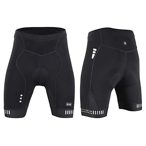Herren Sommer Radhose, PRO Sponge Cushion Damen Fahrrad Radfahren Anti-UV-atmungsaktiv Schnelltrocknende Shorts VS-Serie,Men,M -