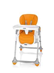 Brevi - Chaise haute évolutive 2 en 1 b.fun - Orange