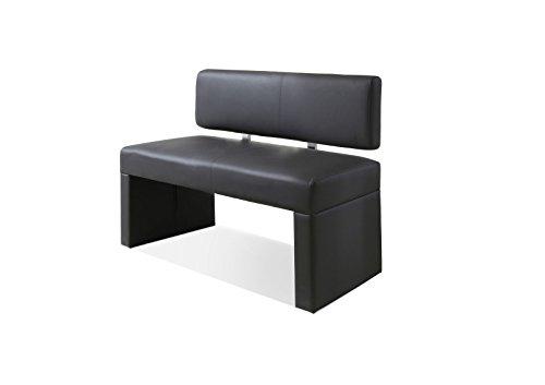 SAM® Esszimmer Sitzbank Silas, 80 cm, in grau, Sitzbank mit Rückenlehne aus Samolux®-Bezug, angenehmer Sitzkomfort, frei im Raum aufstellbare Bank