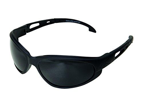Edgeware Edge Tactical Safety Eyewear, Falcon, Matt Schwarz, Antikratzbeschichtet, Beschlagfreie G-15 VS Gläser Schutzbrillen