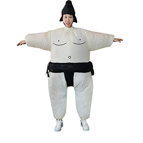 Wenwenzui-DE Aufblasbares Sumo-Kleid Fat Man und Woman Suite Fat Masked Suit Blow Up ()