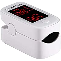Pulsossimetro da Dito, Saturimetro da dito Portatile Professionale con Display LED per Frequenza Del Polso e La Saturazione di Ossigeno
