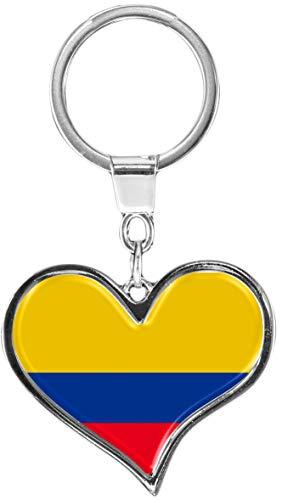 metALUm | Schlüsselanhänger Herz Metall Flagge Kolumbien 6611078