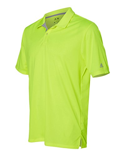 Men's Gradient 3-Stripes polo SOLAR YELLOW 3XL (Interlock-golf-shirt)