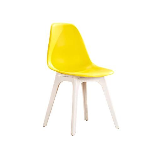 Sgabello plastica creativo,sedia da pranzo schienale sgabello da scrivania sedia da ufficio sedia del computer sedie di ricezione bianco grigio, per cucina,ristorante,caffetteria,bar (43 * 45 * 83cm)