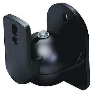 1 Paar Wandhalterungen für Lautsprecher, schwarz, 5kg belastbar, 15° neigbar, 180° schwenkbar, LB-W 5B (Lautsprecher-paar)