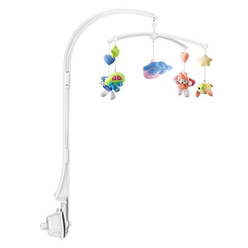 OMORC Mobile, Baby Spieluhr für Kinderbett/Babybett Babymobile für Babys von 0-6 Monaten- Höhe: 65cm (ohne Spielzeug und ohne Spieluhrmodul) Mobile Schritt