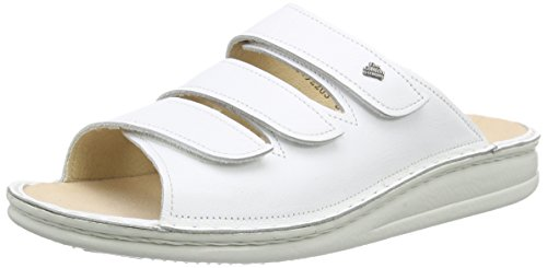 Finn Comfort Korfu, Sandales ouvertes mixte adulte Blanc - Blanc