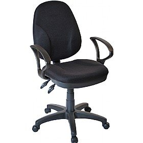 Comfort Ergo 2-Lever Operator Chair With Fixed Arms - Black