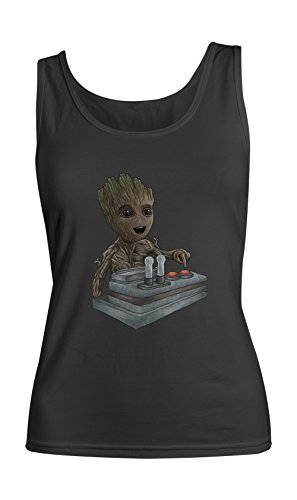 Groot Of The Galaxy Artwork Femme Tank Top Debardeur Noir