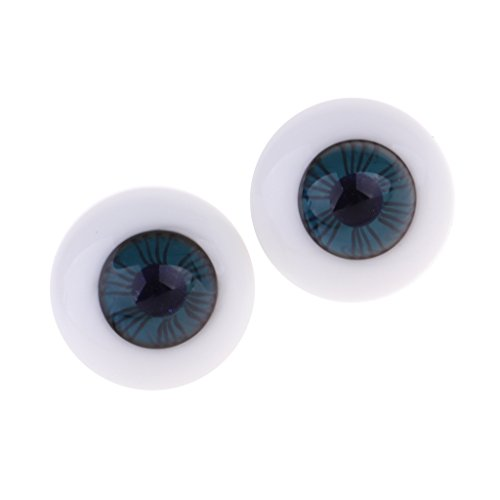 non-brand Sharplace 1 Paar 14mm Glas Sicherheitsaugen Puppen Augäpfel Augen Für BJD oder Puppen DIY Handwerk Zubehör - Blau - 1 (Glas-puppe Augen)
