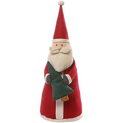 Enesco Gund Peluche Gund Tamaño Pequeño, Diseño de Papá Noel de Tejidos, Tejidos, Multicolor, 17 X 25 X 38 cm