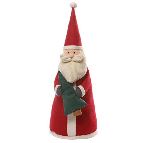 Enesco Gund  Peluche Gund Piccolo Babbo Natale Di Stoffa, Tessuto, Multicolore, 19x25x38 cm - Enesco Natale