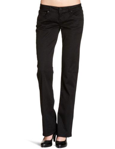 LTB Jeans Damen Boot-Cut Jeans Valerie, Schwarz (BLACK 200), 28W / 34L (Flare Rise Hose Low)