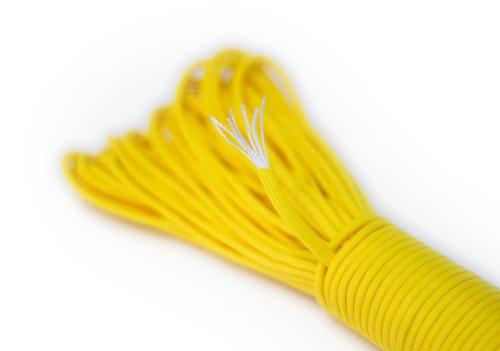 Paracord corda sopravvivenza corda fatta di resistente allo strappo Parachute Cord. Paracord Corde 550 £ 31 metri (100 piedi) in colore giallo (NOTA: QUESTO CORDA PARACORD NON E 'ADATTO PER ARRAMPICATA) NEW dal PRECORN marchio