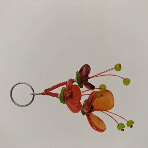 Schlüsselanhänger Blume rot/orange 13cm von Orna Lalo