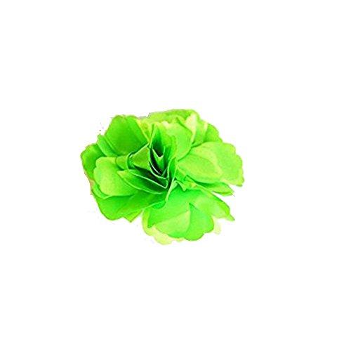 Hy Zange Haar Pompom Blume grün pistazie + Anstecknadel Kitteluhr
