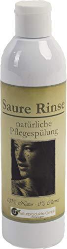 Saure Rinse, 250ml Fertigmischung - die chemiefreie Pflegespülung mit Zitronenduft. Tensidfrei silikonfrei vegan. Sauerrinse Sauerspülung Naturspülung Essigrinse Haarspülung Conditioner Spülung Haare