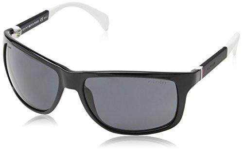 Tommy Hilfiger Unisex-Erwachsene TH 1257/S TD Sonnenbrille, Schwarz (Black White), 59 Preisvergleich