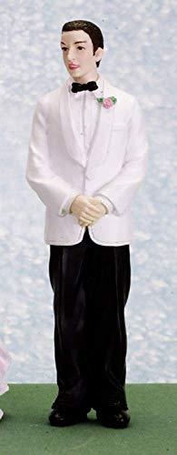 Puppenhaus Miniatur Maßstab 1:12 Resin Menschen Menschen in Hochzeit Anzug Bräutigam