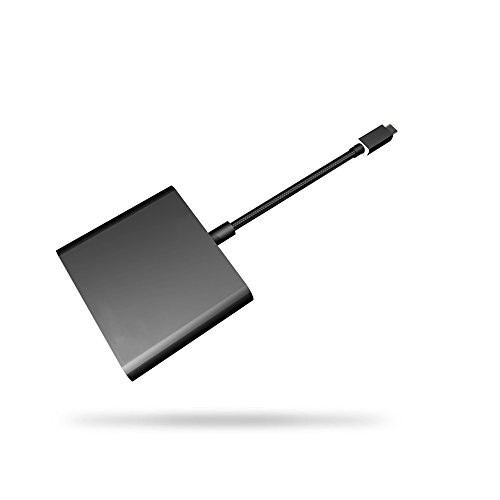 QUMOX USB Typ-C zu HDMI für Nintendo Switch/MacBook/LG G5 / DisplayPort Alternate Mode Multifunktions Hub Konverter Adapter-Schwarz -