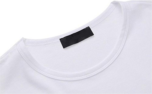 LHWY Herren Men Boy Druck Eule t-Shirts Shirt Short Sleeve Cotton t-shirt Kleidung White