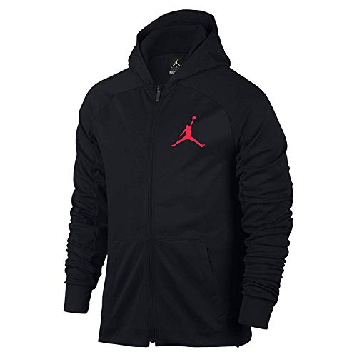 Nike Mens Jordan 360 Fleece Pull Over Hooded Sweatshirt Black/Black X-Large Jordan Mens Fleece