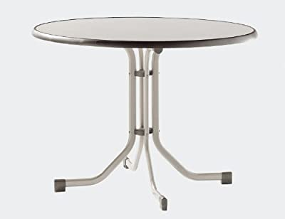 SIEGER Tisch 100 cm champagner Mecalit-Pro-Platte, Boulevard Alugestell