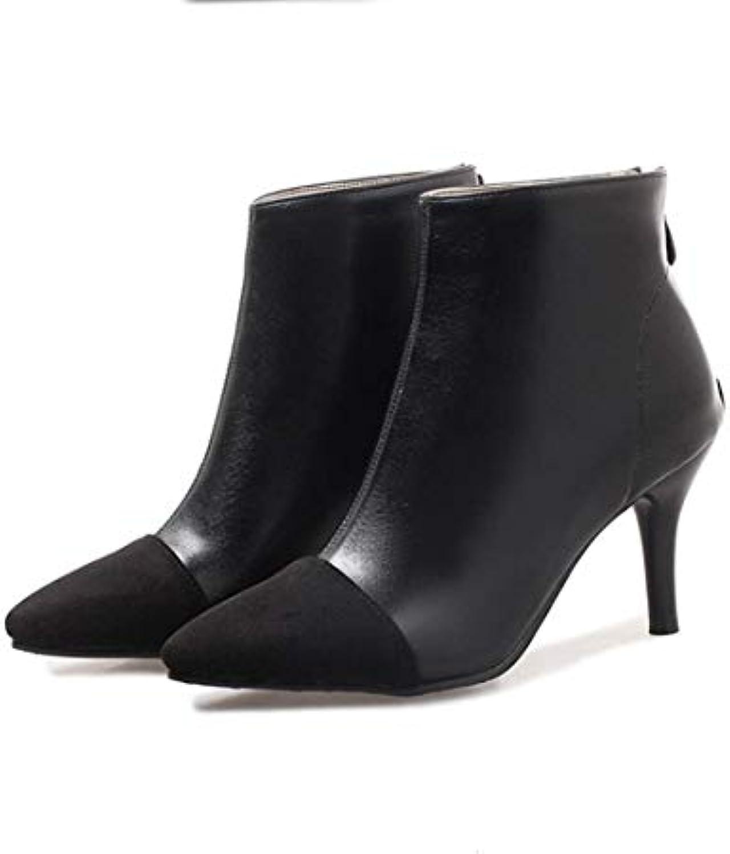 new concept 1ebdd f905f Moojm Stivali donna, stivaletti donna più velluto per mantenere caldo tacco  a spillo aguzza toe. Scarpe Basse da Donna Winter Fashion Solid Slip On ...