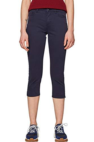 ESPRIT Damen 039EE1B019 Hose, Blau (Navy 400), W36(Herstellergröße: 36/22)