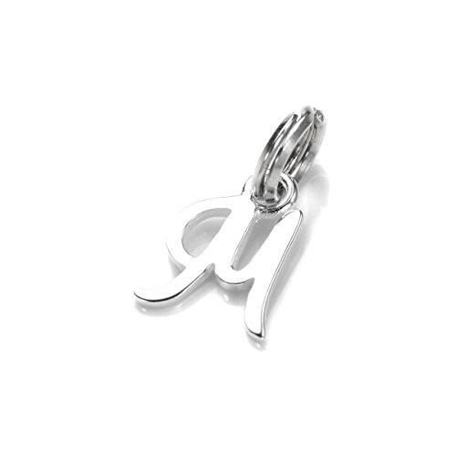JewelleryBox Sterling-Silber Buchstabe M Charm