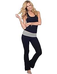 Yoga Pantalon rabattable taille Femmes équipée Activewear Sport