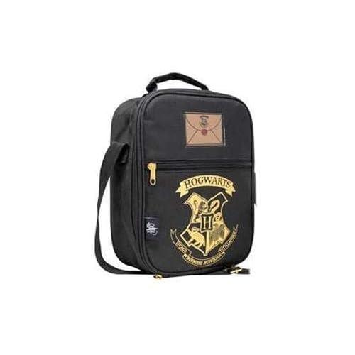 Harry Potter Lunch Bag Hogwarts Black & Gold Blue Studios Borse 4