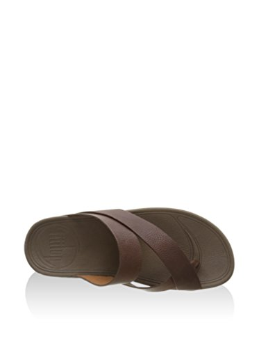 Fitflop Tongs Sling Man Leather Chocolate Chocolat