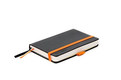 WORKNOTES ca. A6 Notizbuch, kariert, 192 perforierte Seiten,100g /qm, Hardcover, schwarz - für Kreative und Macher